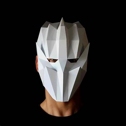 Mask Face Geometric Pdf Template Kid Own