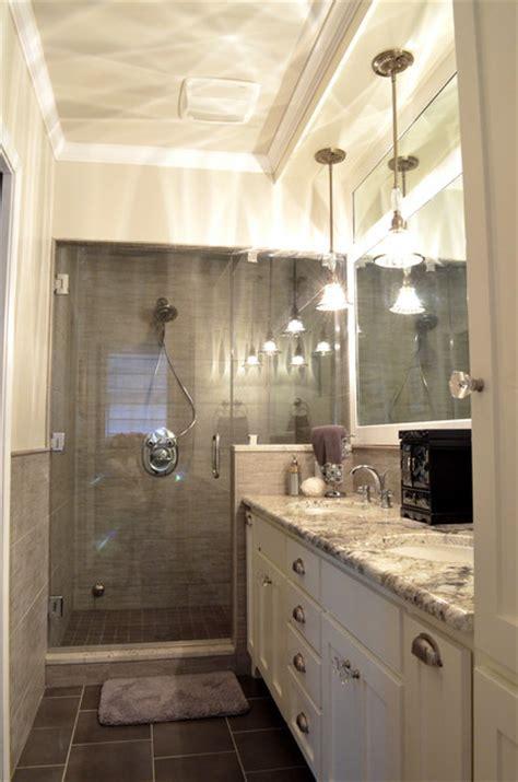 transitional style master bath renovation transitional