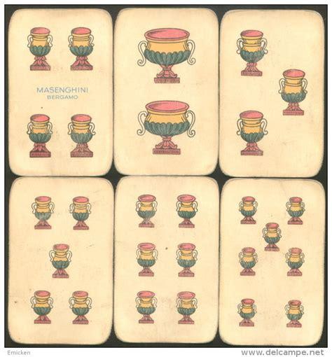 Scopa Briscola Deck Of 40 Playing Cards Masenghini Bergamo
