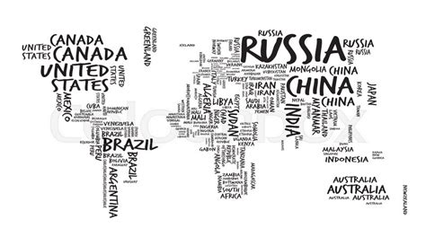 world map  countries  text  typography sketch