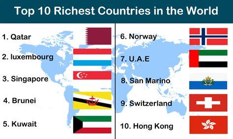 Top 10 Richestpoorest Countries In The World Theinfofinder