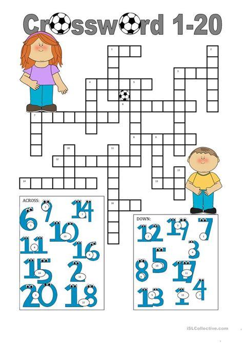 crossword   worksheet  esl printable worksheets