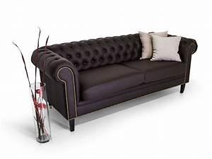 Chesterfield Sofa 4 Sitzer : chesterfield 2 sitzer sofa santos kunstleder braun ~ Bigdaddyawards.com Haus und Dekorationen