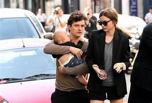 Flynn Bloom in Miranda Kerr and Orlando Bloom in Paris ...