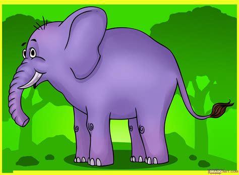 learn   draw  cartoon elephant cartoon animals