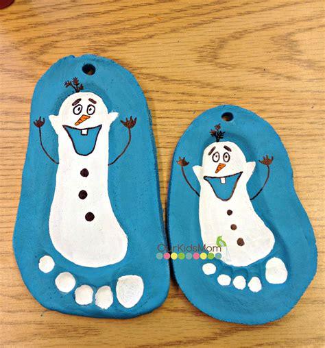 how to salt dough footprint olaf christmas ornament