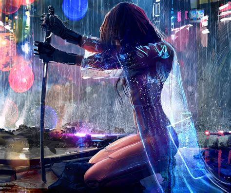 Select your favorite images and download them for use as wallpaper for your desktop or phone. women, Warrior, Artwork, Sword, Rain, Cyberpunk, Cyberpunk 2077 Wallpapers HD / Desktop and ...