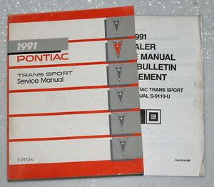 auto repair manual online 1991 pontiac trans sport instrument cluster 1991 pontiac trans sport mini van se factory shop service repair manual update ebay