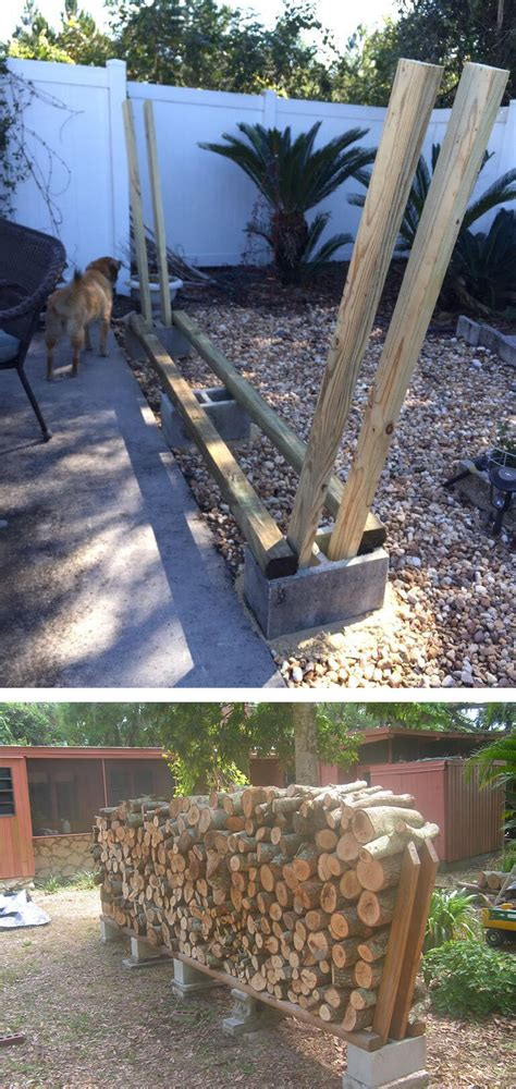 15 Simple Diy Outdoor Firewood Rack Ideas To Keep Your