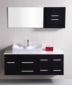 53 inch modern single sink bathroom vanity in espresso With 53 inch bathroom vanity