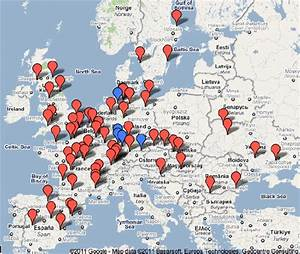 Nuclear Power Plants In Europe  Google Maps  2011