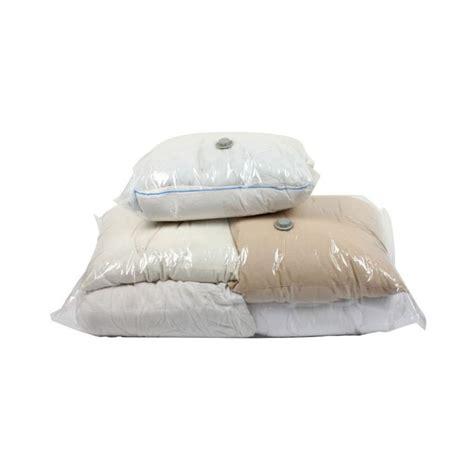 set de 2 housses de rangement sous vide pour couettes couvertures et oreillers tendance plus