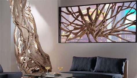 luminaires pour chambre cloison décorative en teck massif