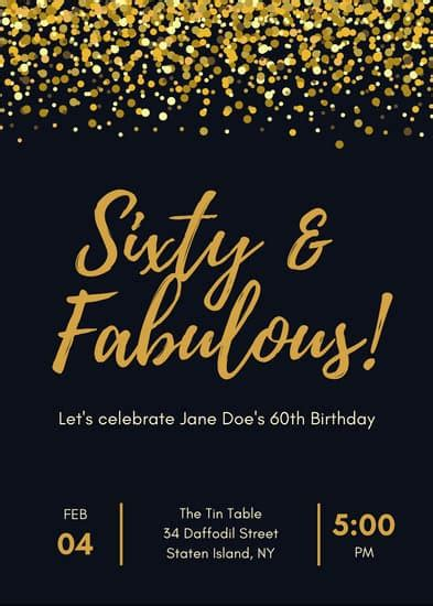 Customize 359+ 60th Birthday Invitation templates online
