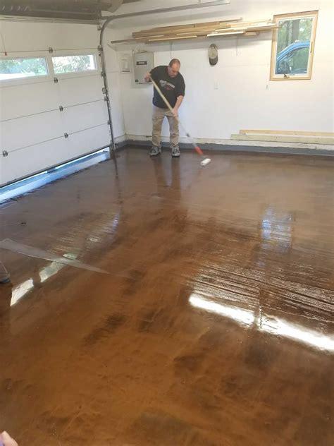 epoxy finish concrete residential garage floor