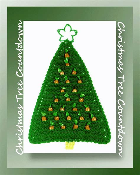 christmas tree countdown crochet christmas pattern