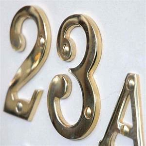 brass 3 inch house numbers With brass house numbers and letters