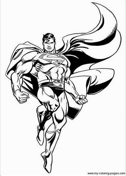 Coloring Pages Superman Steel Super Hero