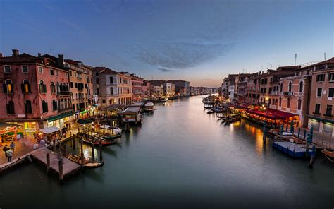 Beautiful Wallpaper Venice by View On Grand Canal From Rialto Bridge Venice Italy Hd