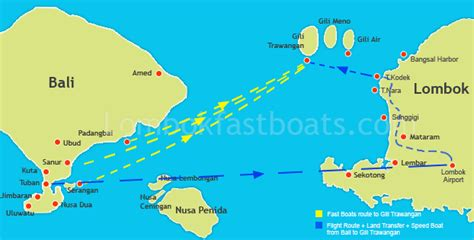 Ferry Gili T To Lombok by Going From Bali To Gili Trawangan Fast Boat From Bali To