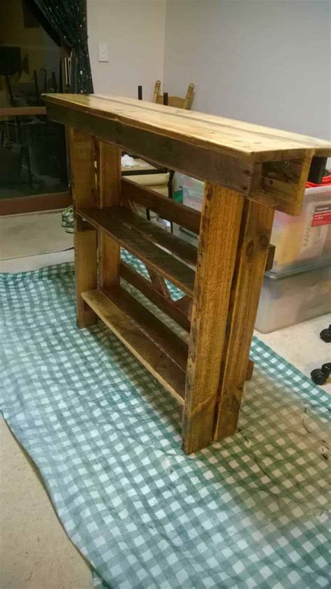 wall side table  repurposed pallet  pallets