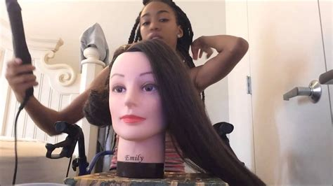 Cosmetology Mannequin Head With Synthetic Hair From Amazon