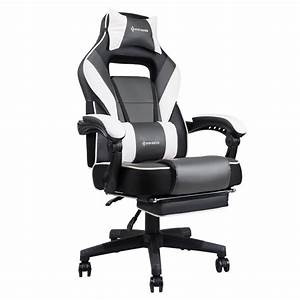 Von Racer 9015 Gray Reclining Massage Gaming Chair With