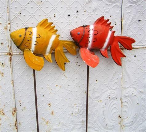 Garden Goldfish by Koi Goldfish Yard Ornament Garden Stakes