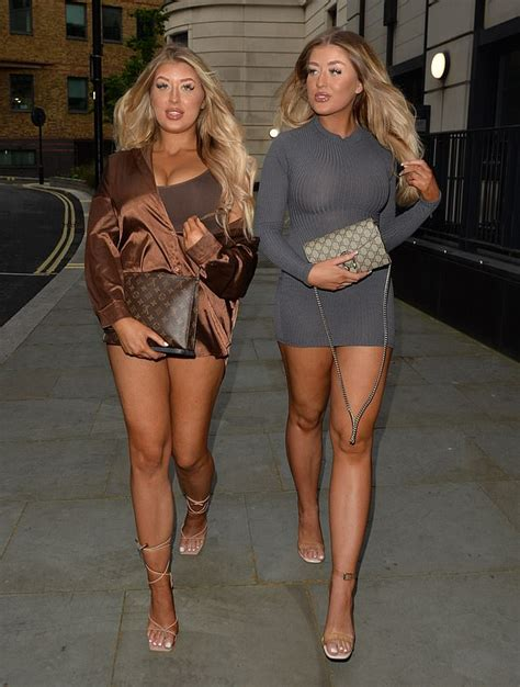 Eve Gale and twin sister Jess flaunt curves during night ...