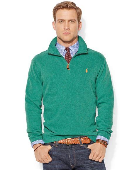 ralph polo sweaters polo ralph rib half zip pullover sweater in