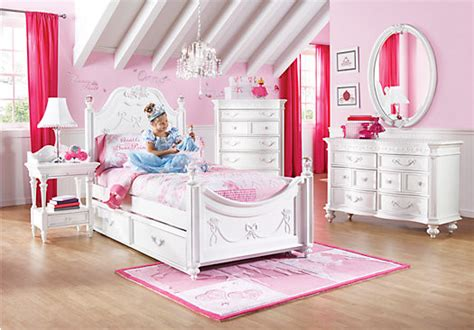 Rooms To Go Kids : Disney Princess White Twin Poster Bedroom-contemporary