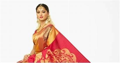 Anushka Shetty Saree Kanchivaram