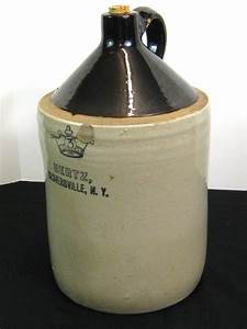 Antique 3-Gal Stoneware Whiskey Moonshine Jug Crock Bottle ...