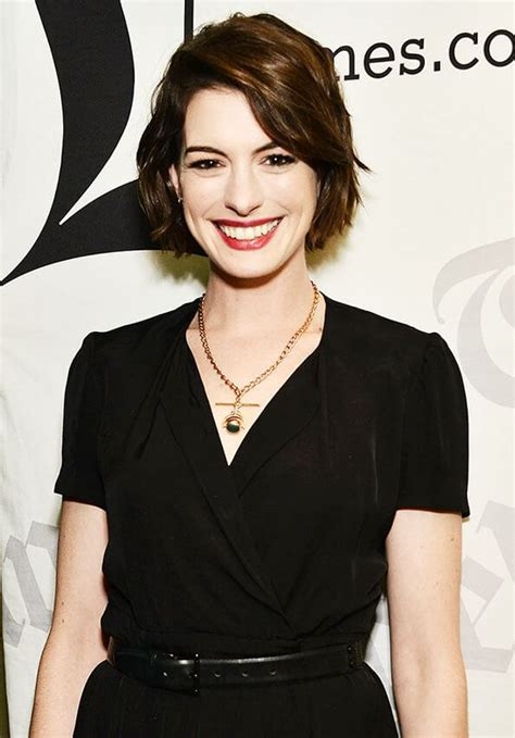 Another question is whether short haircuts are compatible with wavy hair. Anne Hathaway's Short Haircuts and Hairstyles - 15+