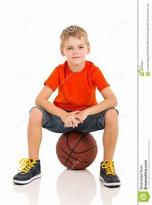 Kid sitting basketball stock photo. Image of happy, little ...