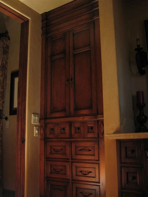 hand crafted custom alder built  armoire  ps