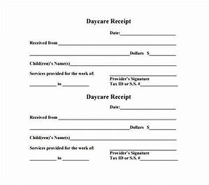 Proof Of Income Letter For Babysitter 21 Daycare Receipt Templates Pdf Doc Receipt