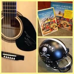 win a kenny chesney autographed guitar cd football helmet