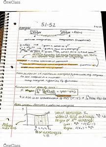 Math 116  - Final Exam Guide