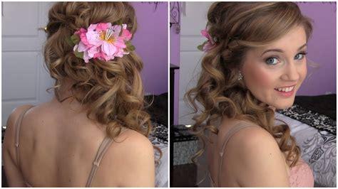 Hairstyles Side Curls by Side Swept Cascading Curls Easy Diy Prom Hair Tutorial