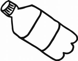 Plastic water bottle black and white clipart kid ...