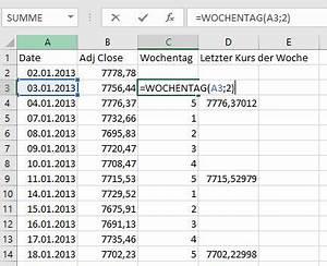 Excel Wochentag Berechnen : rendite in excel berechnen stetige und diskrete renditen ~ Haus.voiturepedia.club Haus und Dekorationen