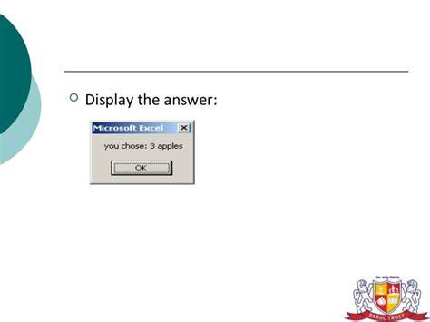 Vba Message Box Example