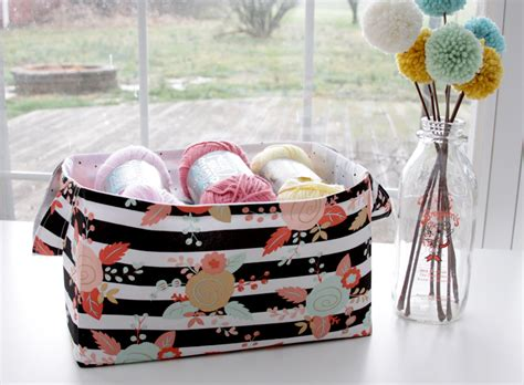 quick and easy fabric basket