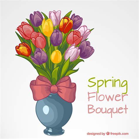 vaso per tulipani vaso con tulipani colorati scaricare vettori gratis