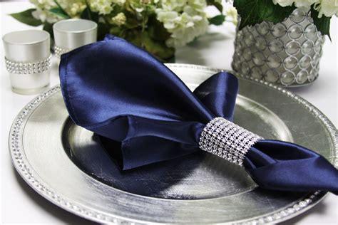 "Satin Napkin 20""x20"" Navy Blue Wedding napkins Blue"