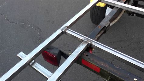 Convert Boat Trailer To Utility by Boat Trailer To Flatbed Trailer Conversion Welding Project