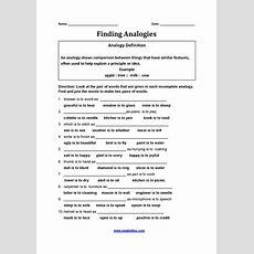 Englishlinxcom  Analogy Worksheets