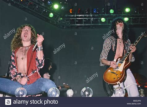 Robert Plant At Left And Jimmy Page In