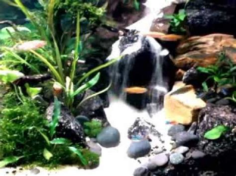 Aquascapes Play by Simple Sandfall Like A Waterfall My Aquascape